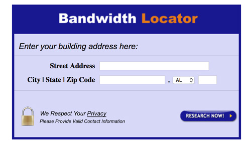 Try this bandwidth locator to see what upgrades are available for your business location.